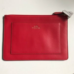 Coach Darcy Leather Med Tech Pouch